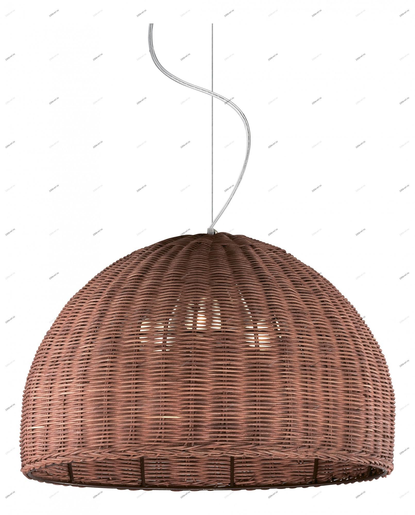 Подвесные светильники из ротанга